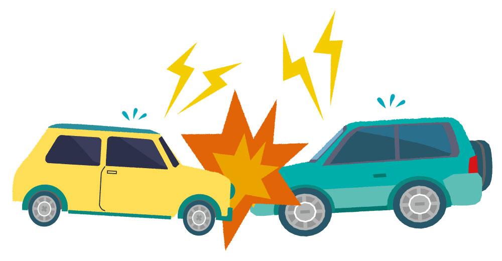 車同士 交通事故イラスト