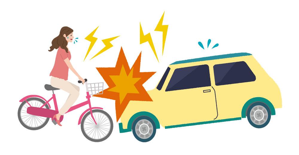 車と自転車 交通事故イラスト