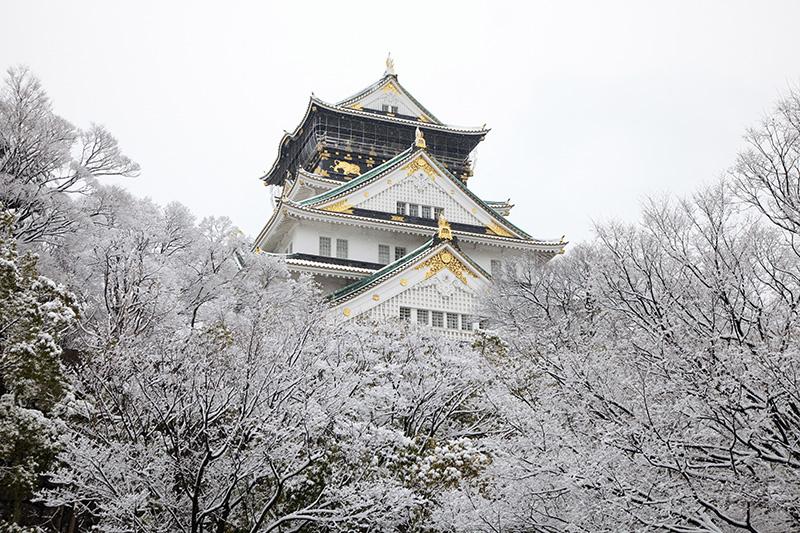 冬の大阪城-雪景色